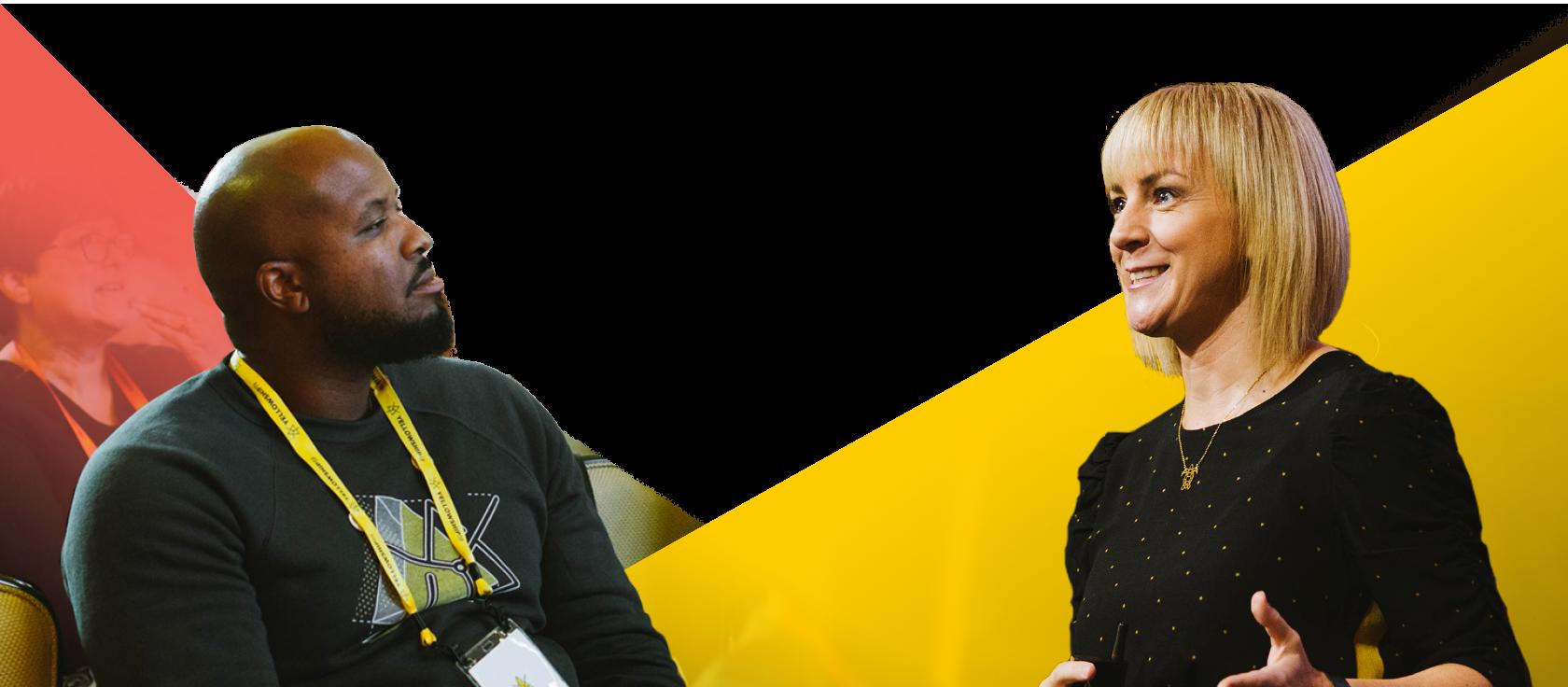 Yellowship speakers presenting