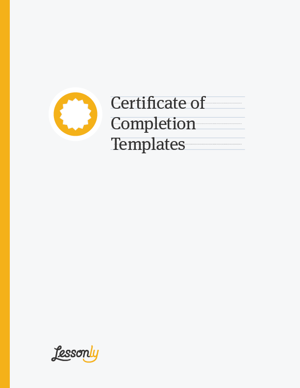 Certificates Upon Completion  Certificate Of Completion Template Word