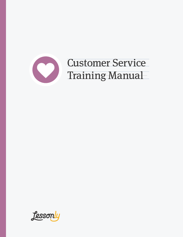 FREE Customer Service Standards CustServ Lessonly – Free Training Manual Template