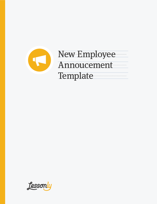 organizational change announcement template
