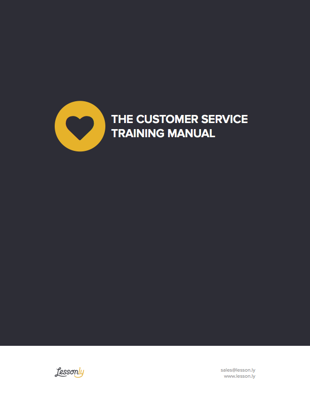 FREE Customer Service Training Manual Template CustServ Lessonly – Free Training Manual Template