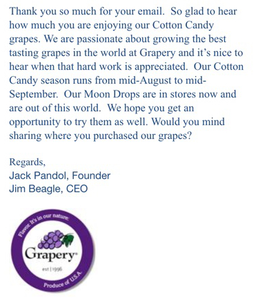 moondrop grapes customer service
