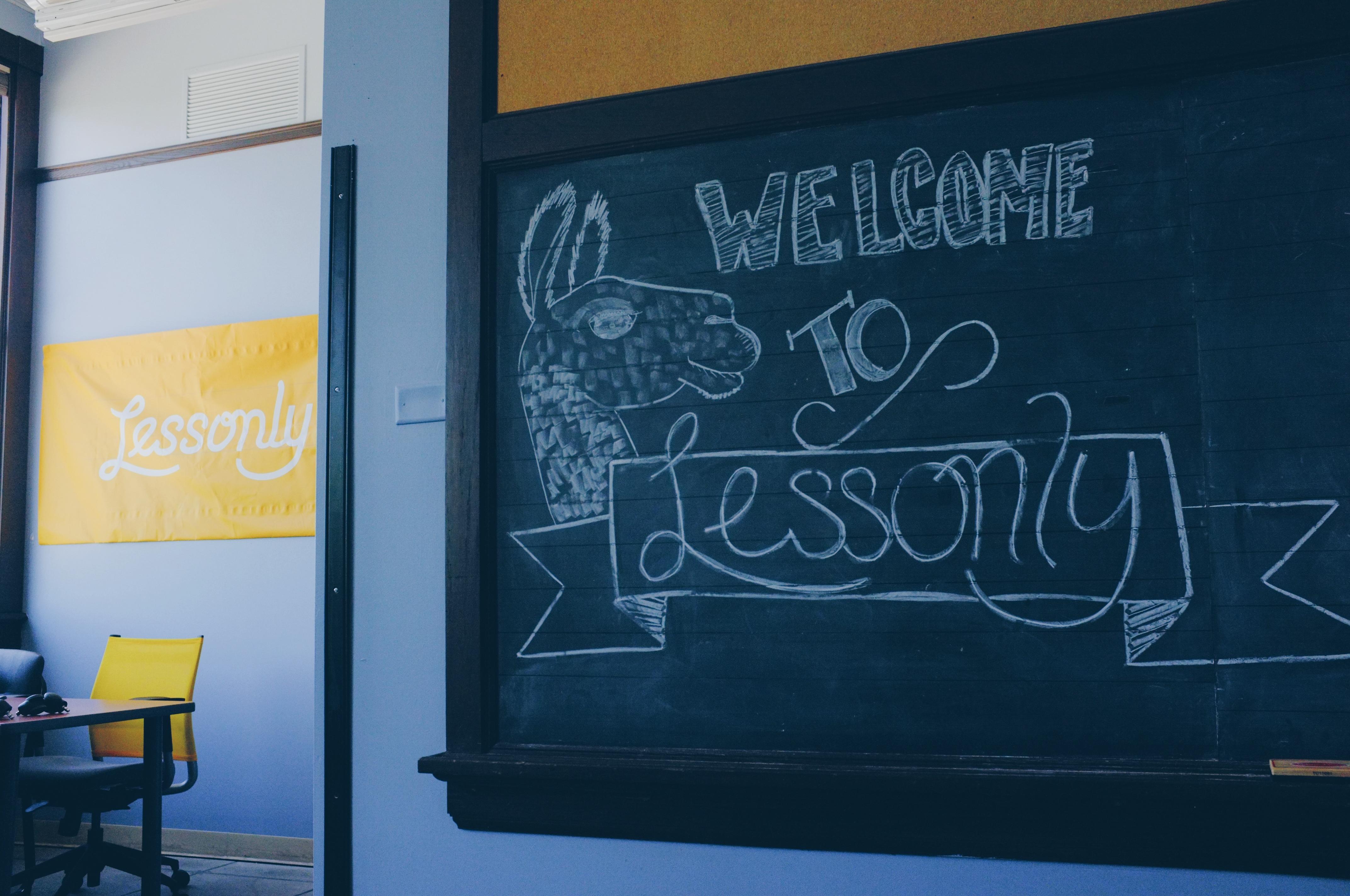 chalkboard llama