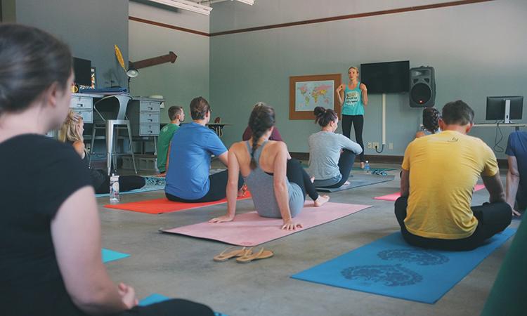Lessonly's Yoga Mondays