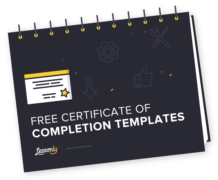 4 Free Certificate Of Completion Templates Lessonly