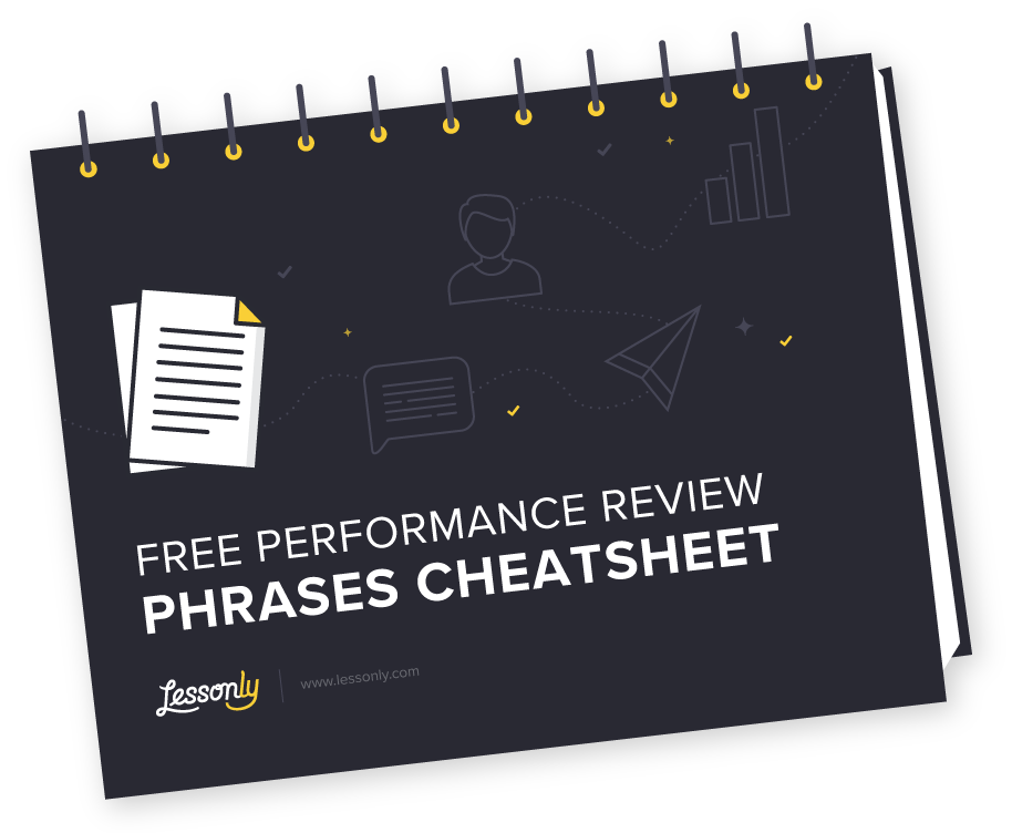 Free Performance Review Phrases Cheatsheet - Lessonly