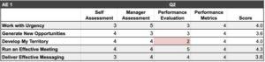Skills Matrix for Sales Reps